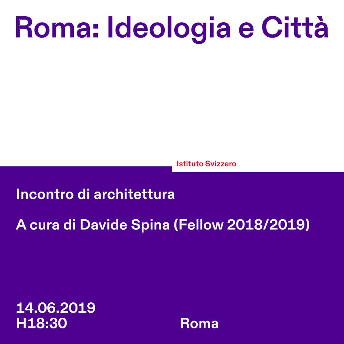Roma Ideologia e Città