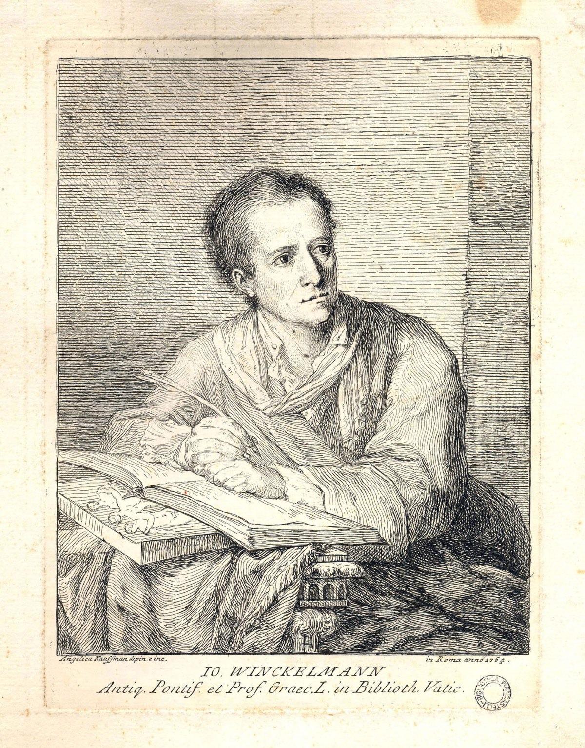 Angelica Kaufmann Ritratto di J.J. Winckelmann