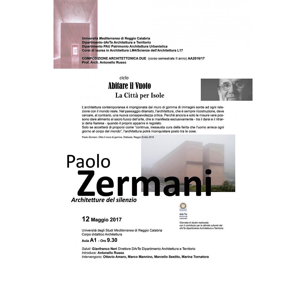 Architetture del silenzio con Paolo Zermani