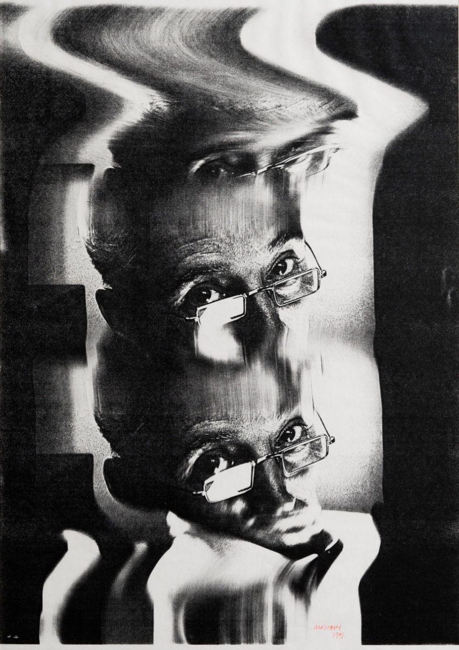 B. Munari, Autoritratto, Xerografia
