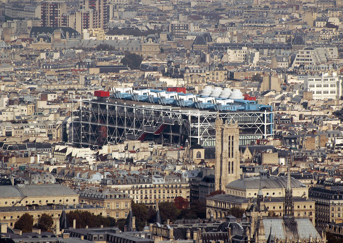 Centre Georges-Pompidou dalla tour de Montparnasse foto Maureen CC BY 2.0
