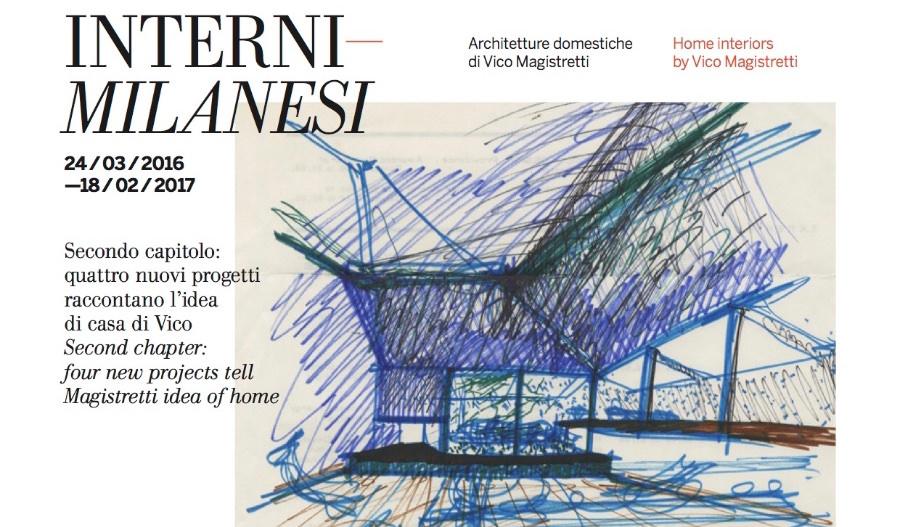 Fondazione Vico Magistretti - invito inaugurazione SECONDO CAPITOLO mostra Interni Milanesi