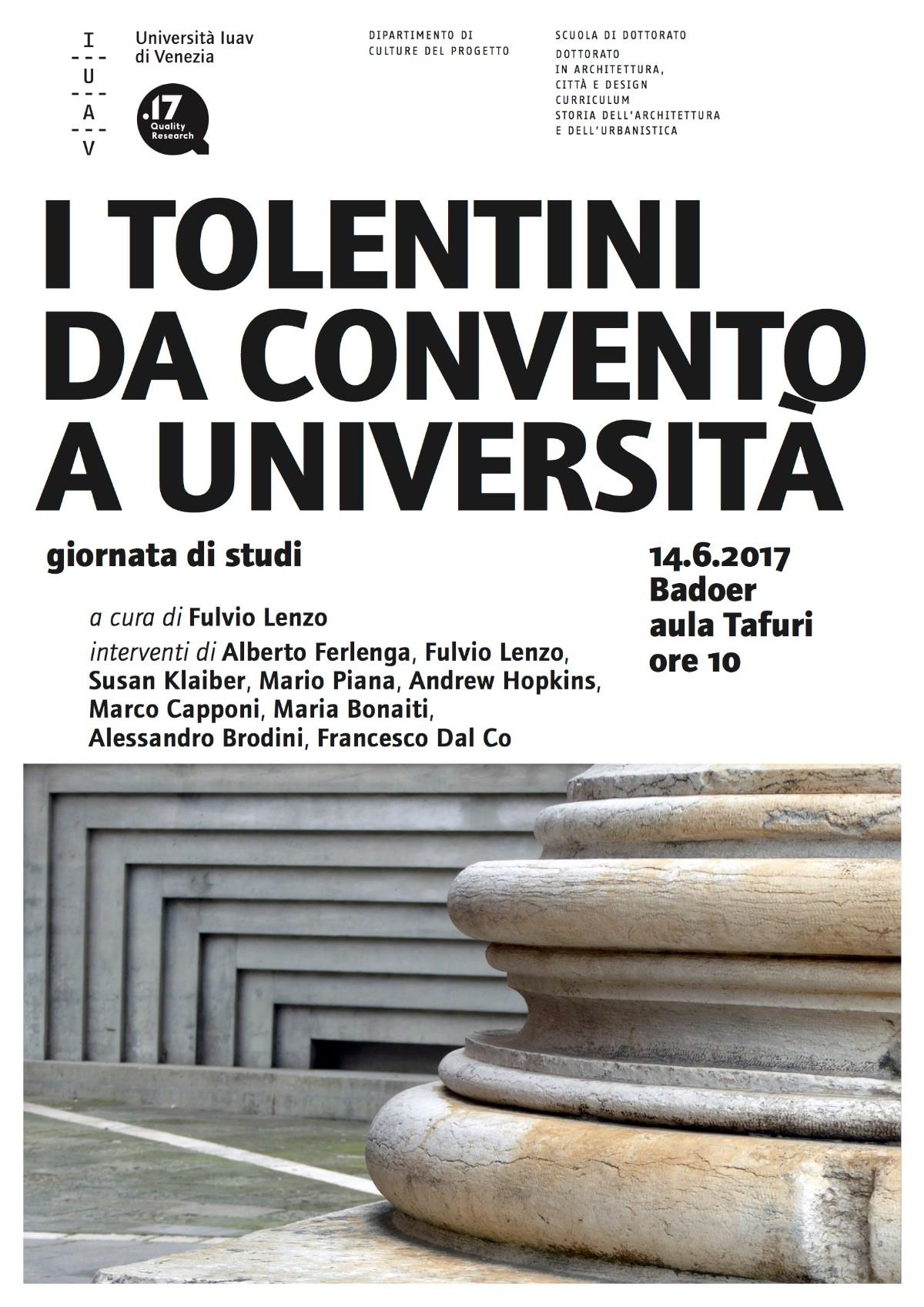 I Tolentini da convento a università IUAV