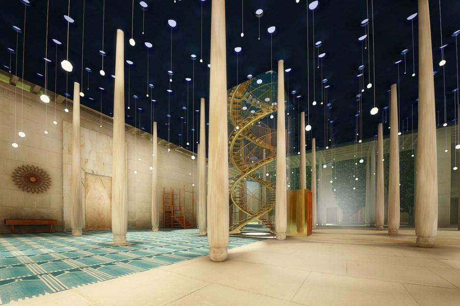 Italo Rota rendering interno Moschea Milano imagecredits courtesy triennale.org