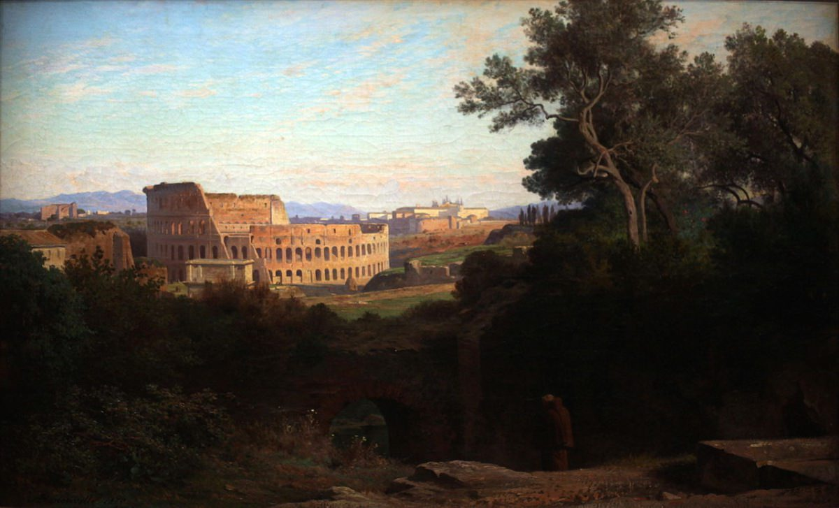 Jean-Achille Benouville Colisée vu du Palatin 1870 – Rama CC BY-SA 2.0 FR