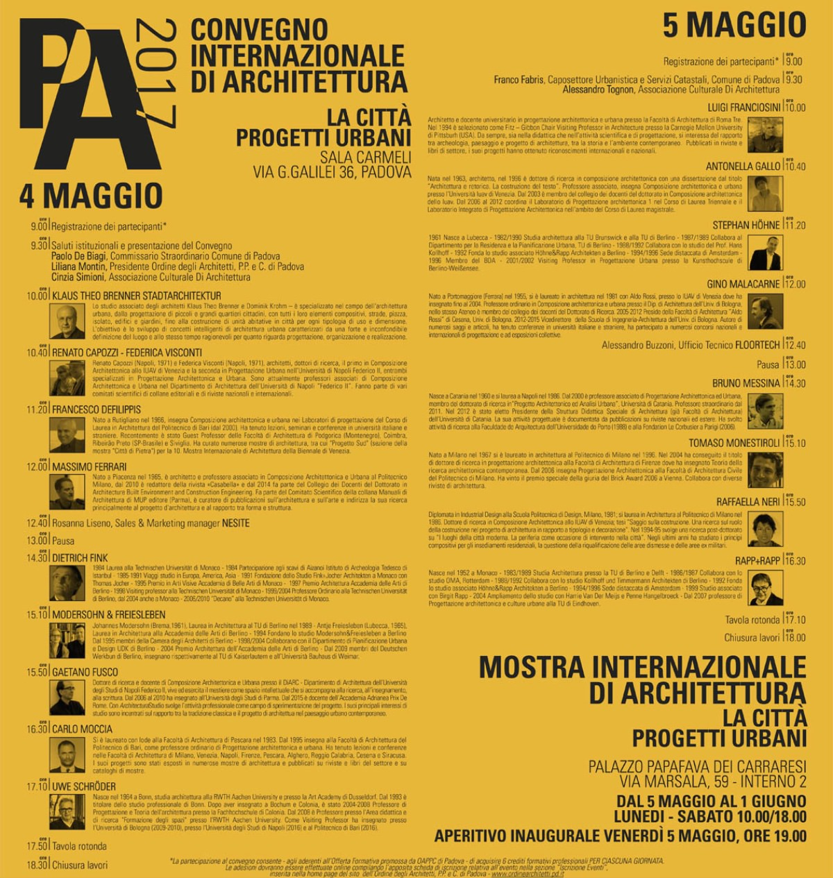 La città. Progetti urbani Padova 2017
