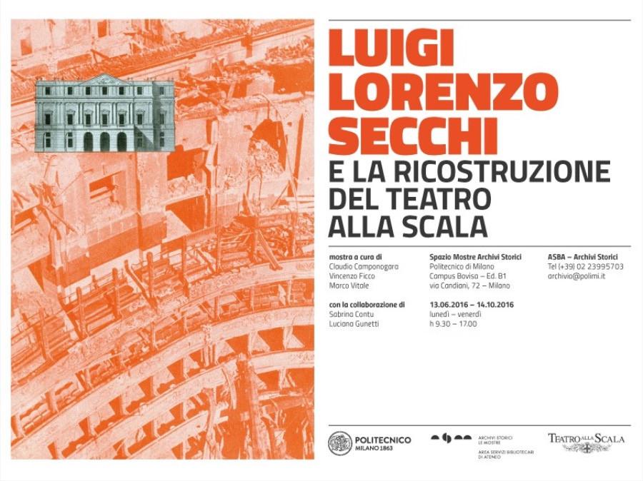 Luigi Lorenzo Secchi e la ricostruzione del Teatro alla Scala imagecredits polimi.it