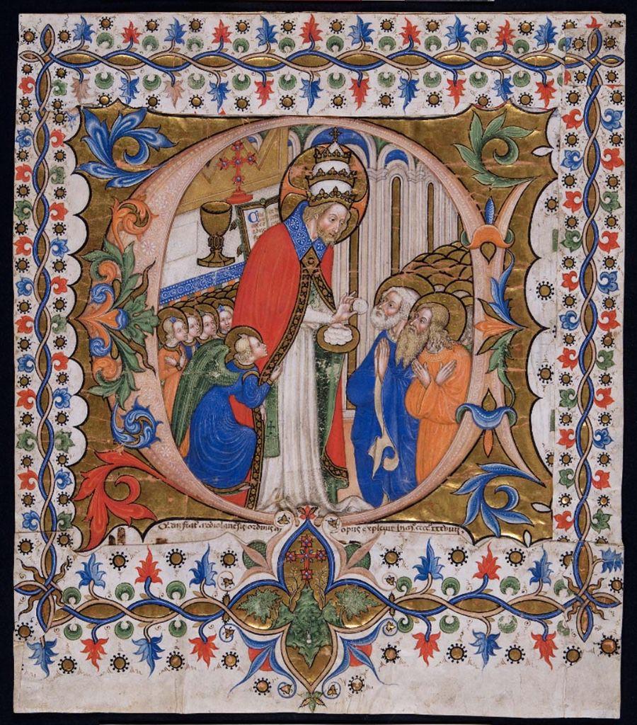 maestro-olivetano-iniziale-ritagliata-da-graduale-temporale-celebrazione-del-corpus-domini-o-comunione-degli-apostoli-iniziale-c-imagecredits-courtesy-cini-it