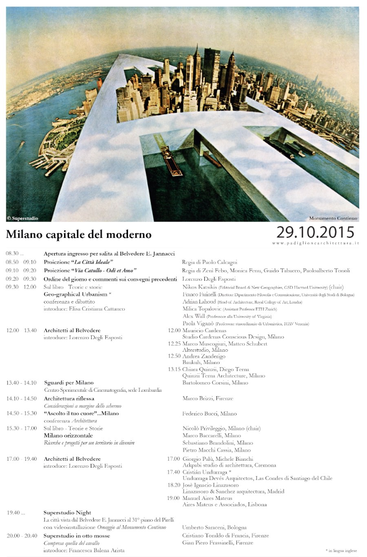 Milano capitale moderno 29.10.2015 imagecredits padiglionearchitettura.it
