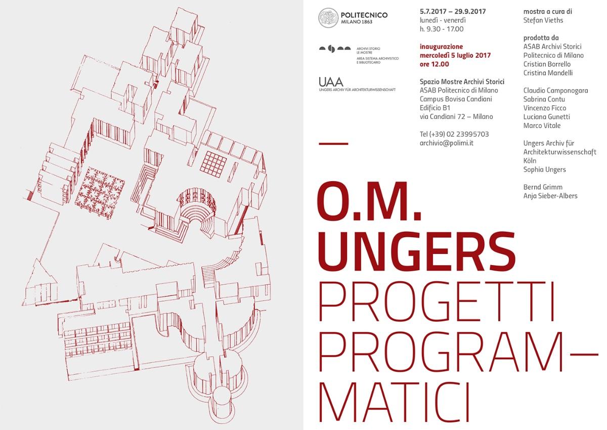 O.M. Ungers Progetti Programmatici