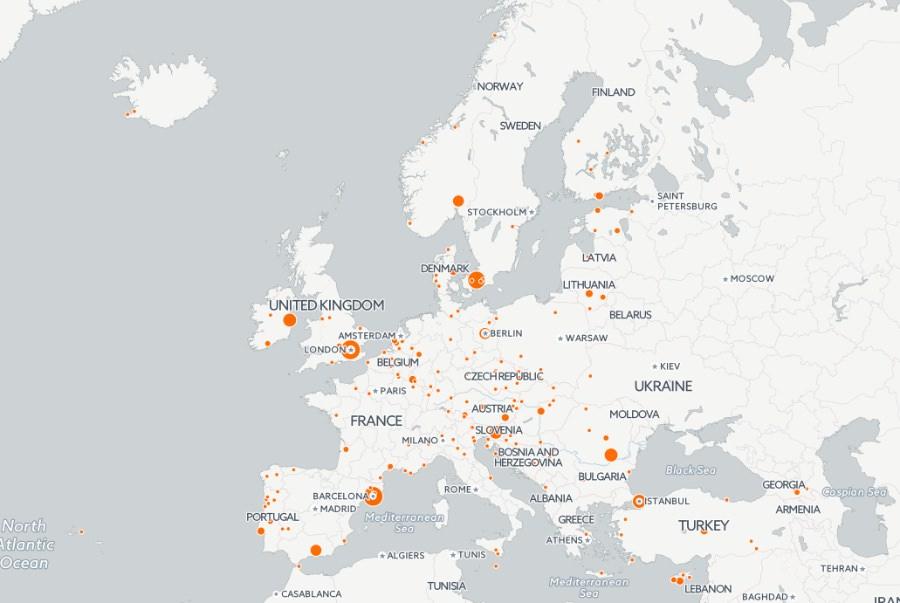 Premio Mies van der Rohe 2017 mappa