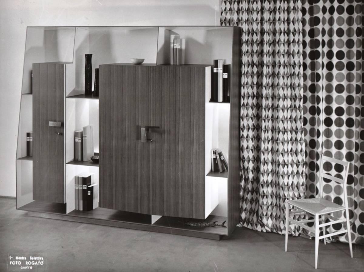 Seconda Selettiva, 1957. Gio Ponti , camera da letto presentata fuori concorso. Esecuzione Galleria Mobili d'Arte, Cantù. Foto Rogato