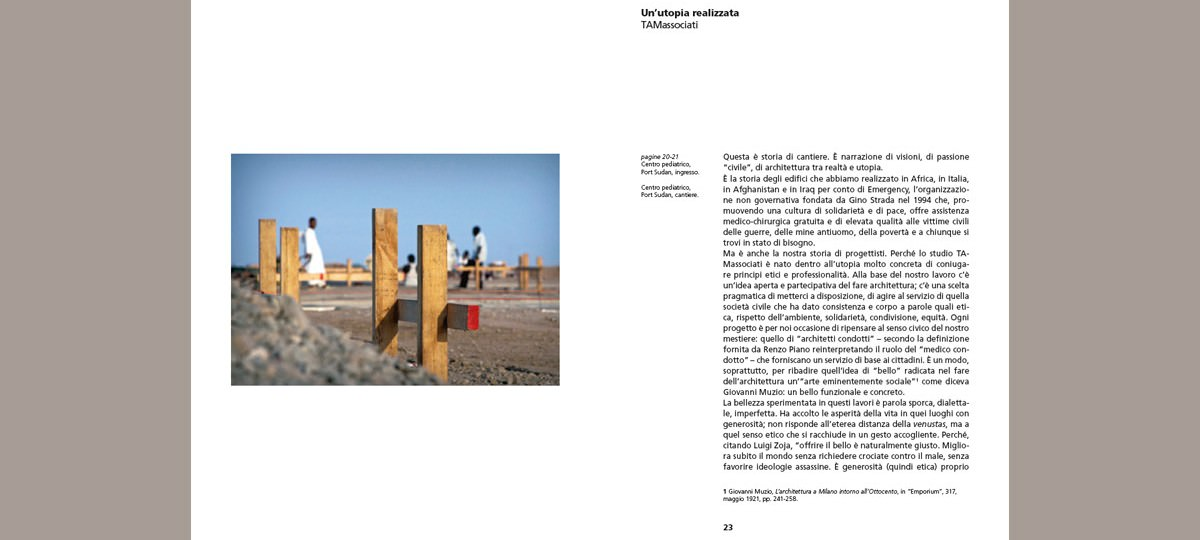 TAMassociati. Taking care. Architetture con Emergency. pp. 22-23