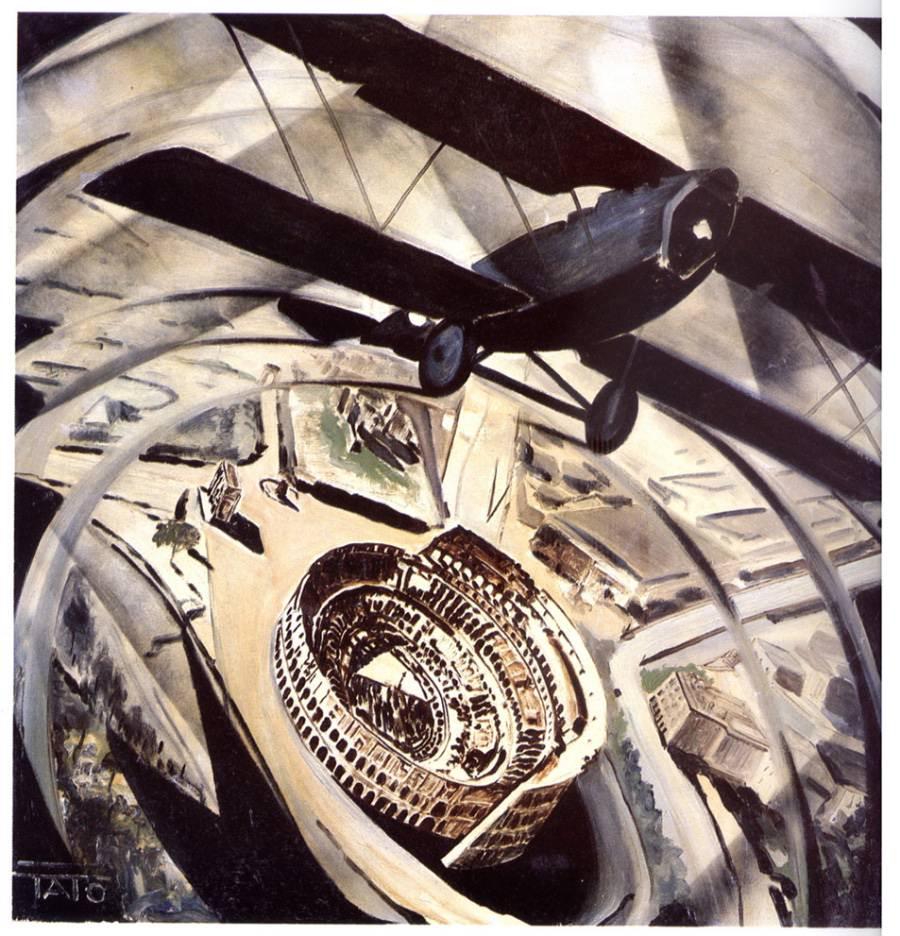 tato-sorvolando-in-spirale-il-colosseo-1931-ca