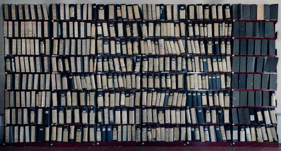 Tommaso Bonaventura e Alessandro Imbriaco, Fascicoli del maxiprocesso 1986-1987, Corleone, Palermo, 2012 imagecredits courtesy fondazionemaxxi.it