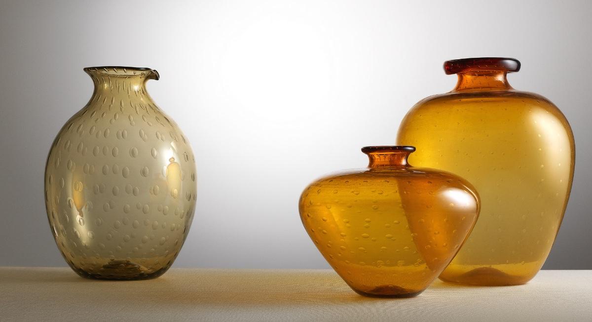 Vittorio Zecchin, Vasi in vetro trasparente 1921-25