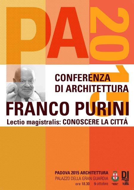 conferenza di Franco Purini Padova 2015 imagecredits diarchitettura.org
