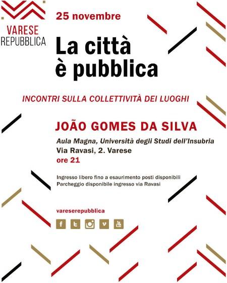 dall'invito alla conferenza João Gomes da Silva Varese Repubblica