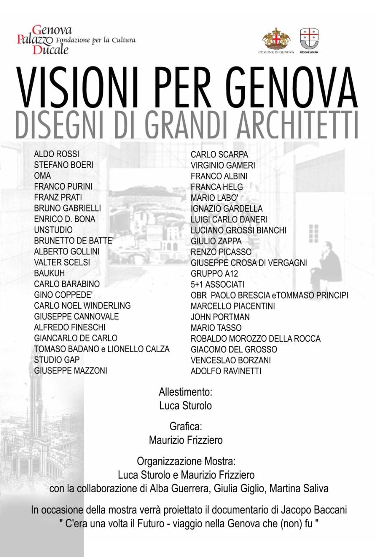 dalla locandina della mostra Visioni per Genova imagecredits palazzoducale.genova.it