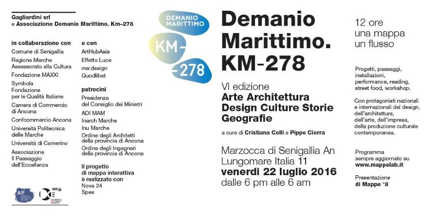 dall'invito Demanio Marittimo. KM-278 2016