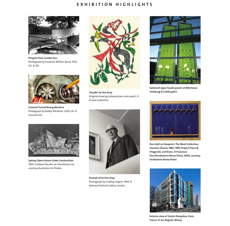 exhibition highlights Engineering the World Ove Arup and the Philosophy of Total Design imagecredits vam.ac.uk