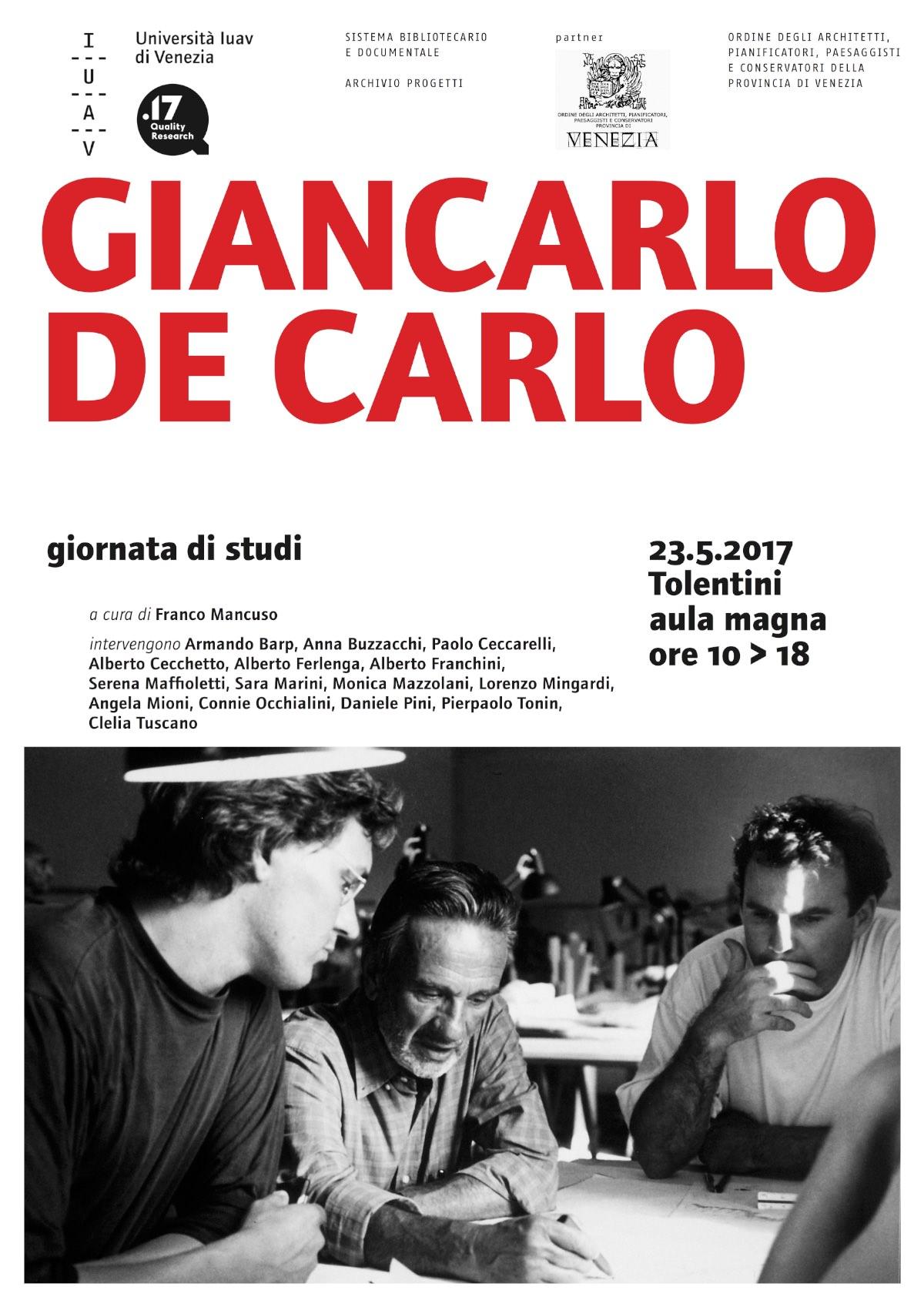 giornata di studi su Giancarlo De Carlo IUAV
