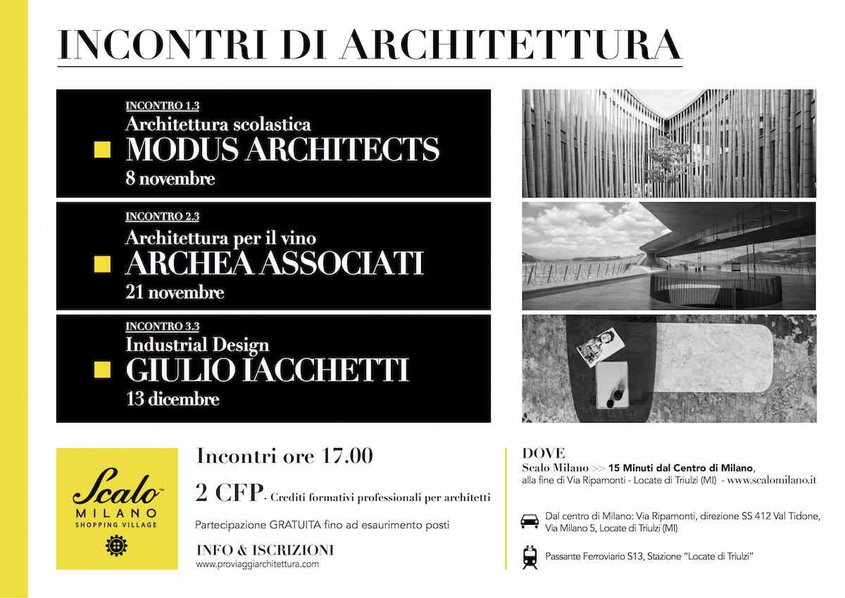incontri di architettura