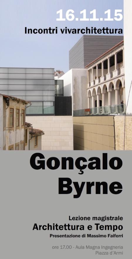 locandina Byrne Architettura e Tempo Cagliari