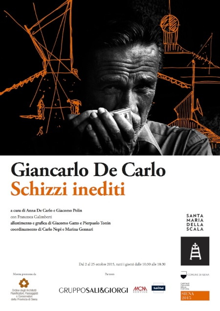 locandina Giancarlo De Carlo Schizzi inediti imagecredits architettisiena.it