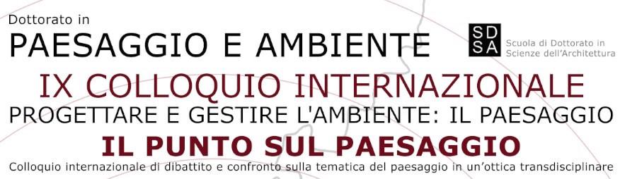 locandina IX Colloquio Internazionale sul Paesaggio a