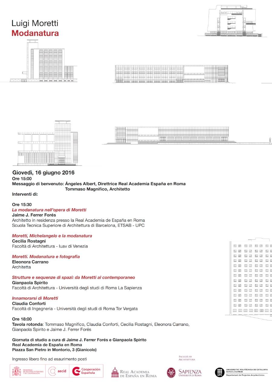 locandina Luigi Moretti Modanatura imagecredits accademiaspagna.org