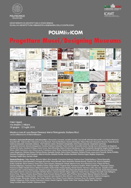 locandina Progettare musei imagecredits polimi.it.