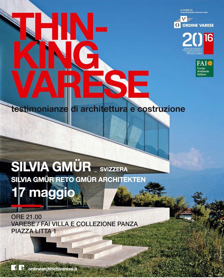 locandina Silvia Gmür  Varese maggio 2016