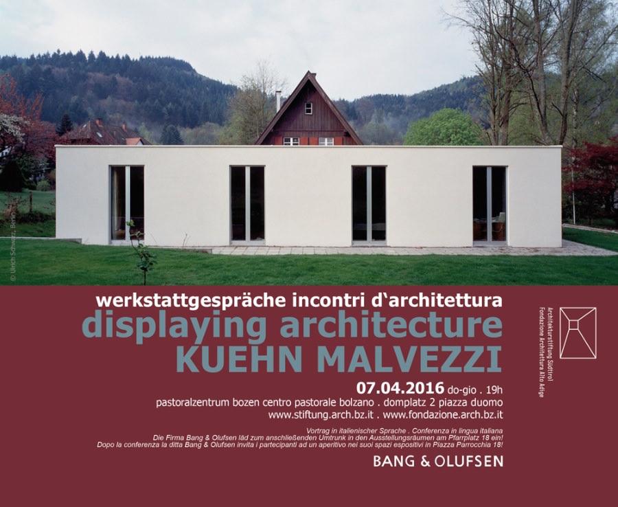 locandina della conferenza di Kuehn Malvezzi imagecredits fondazione.arch.bz.it