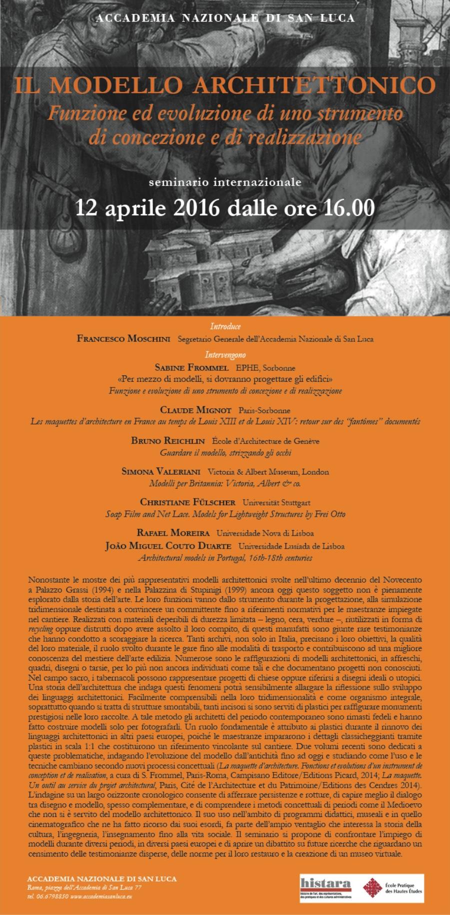 locandina seminario internazionale Il Modello Architettonico