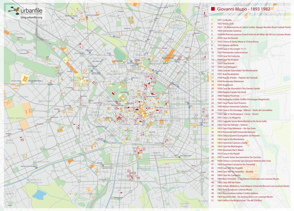 mappa architetture Giovanni Muzio Milano imagecredits blog.urbanfile.org copia