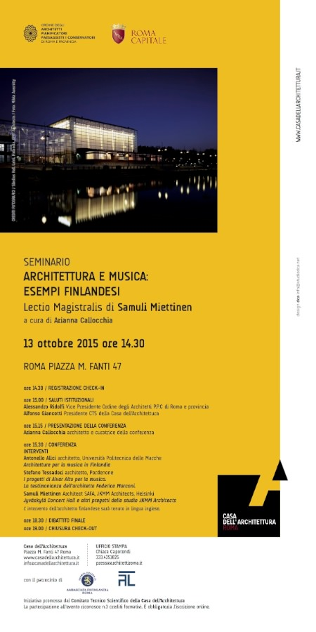 poster Architettura e musica Roma 2015 imagecredits casadellarchitettura.it