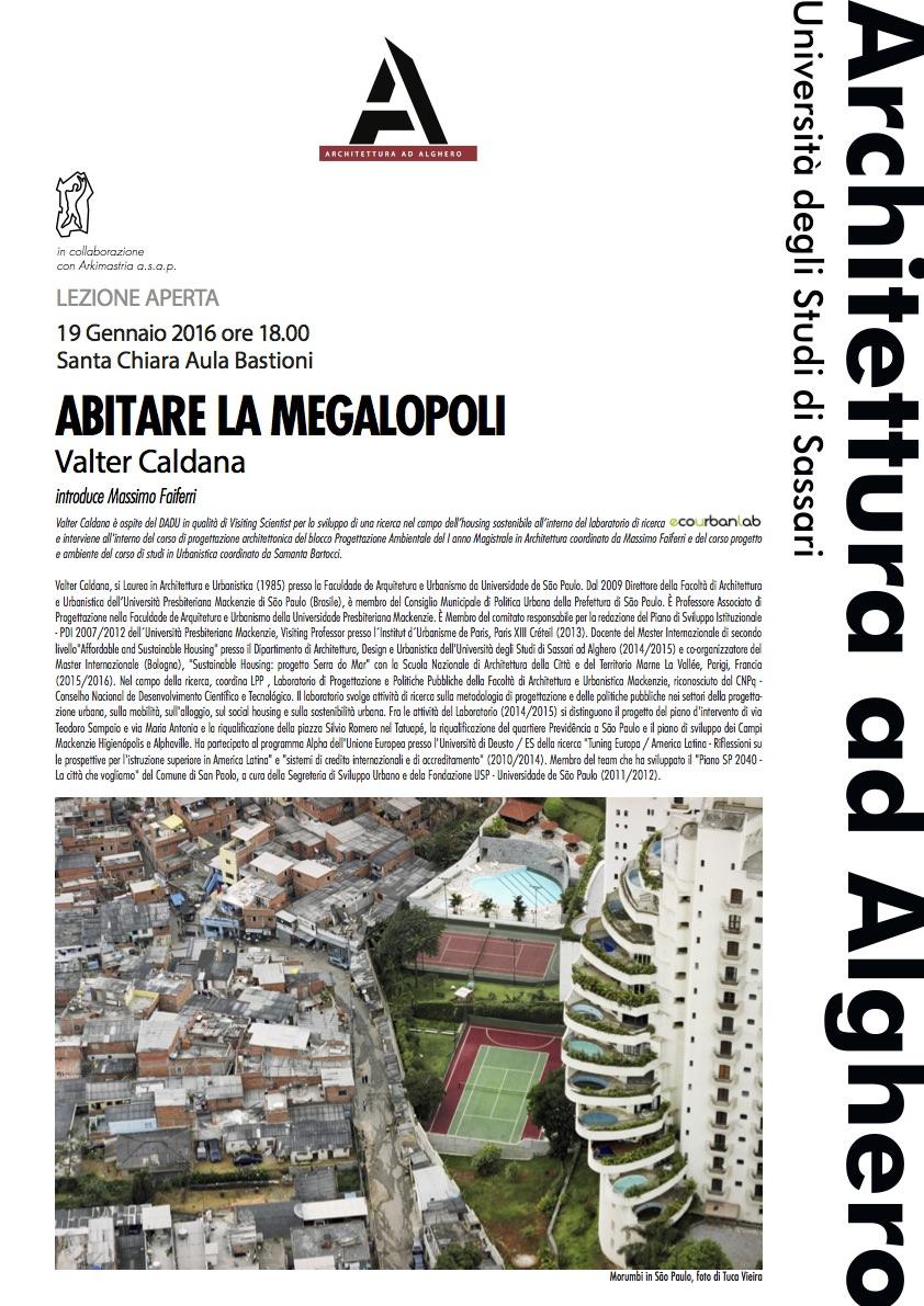 poster lezione Caldana Alghero