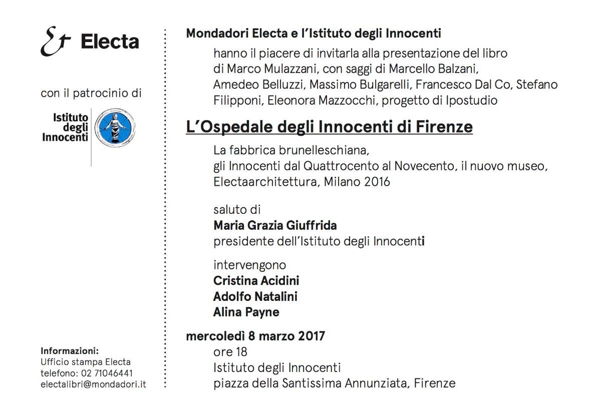 presentazione Innocenti Firenze a
