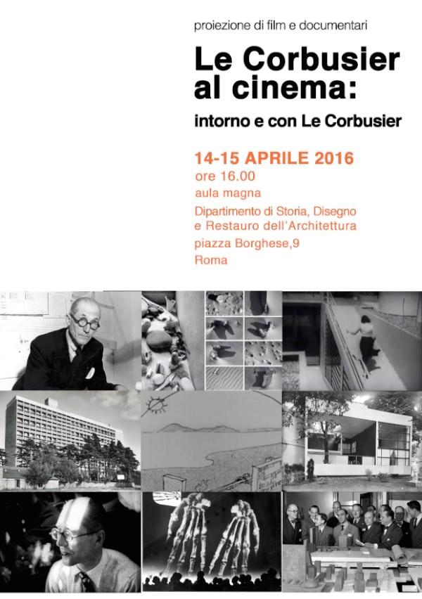 programma Le Corbusier al cinema 14-15 aprile