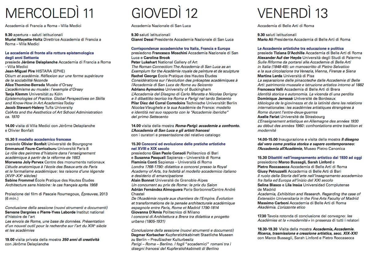 programma_Accademie artistiche tra eredità e dibattiti contemporanei