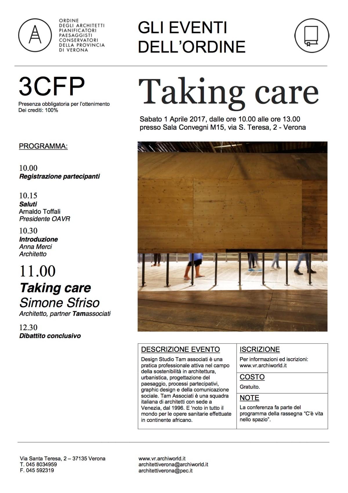 taking care verona 2017