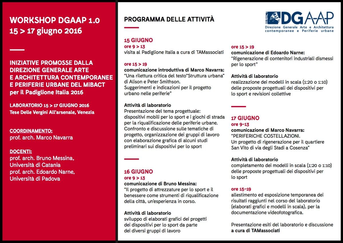 workshop Venezia 15-17 giiugno 2016 w