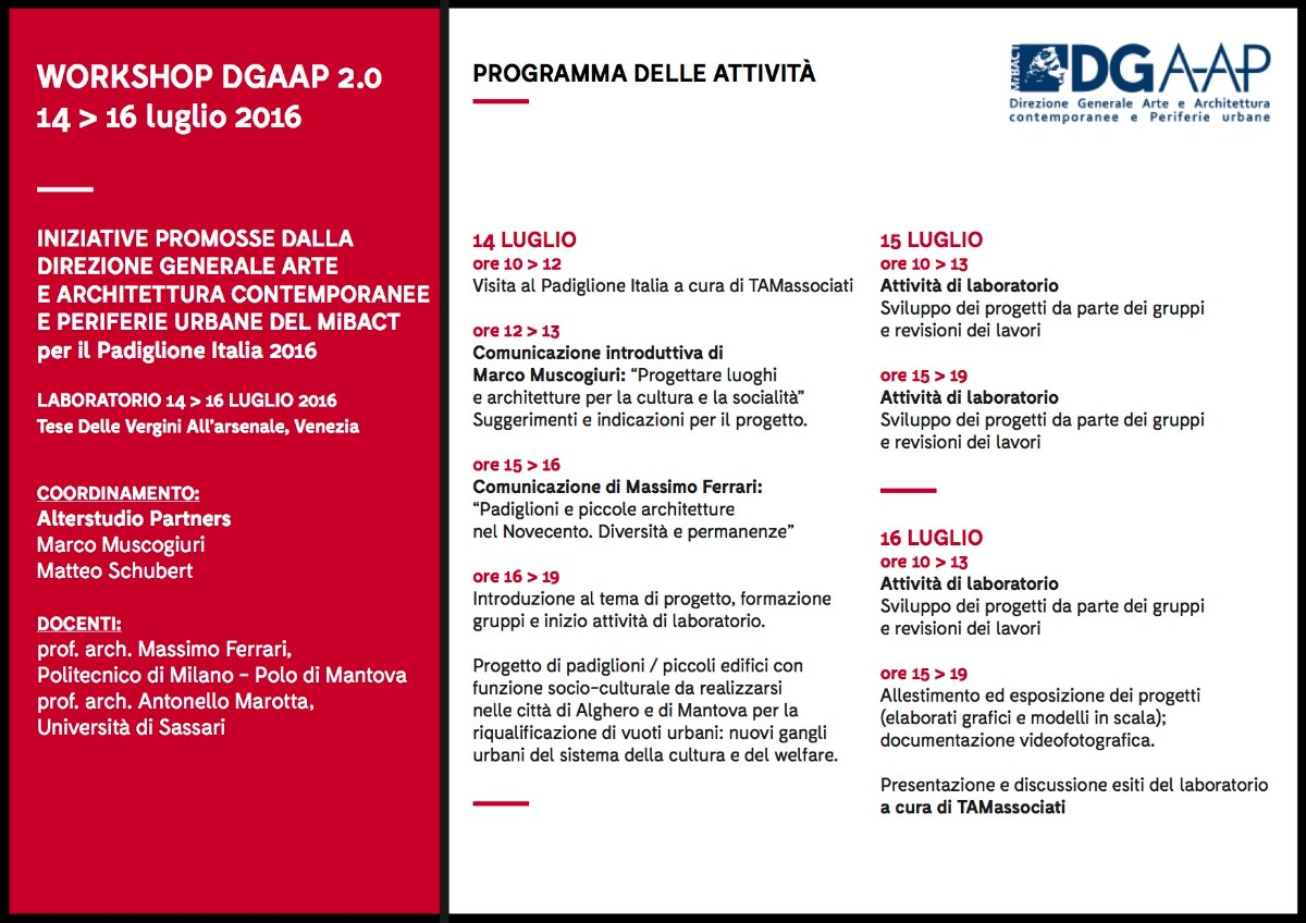 workshop Venezia DGAAP 2